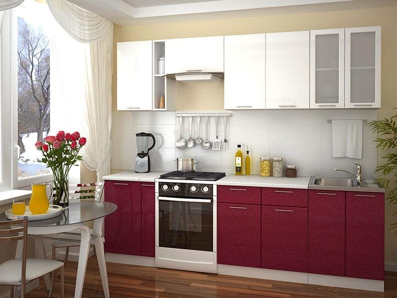 Глянцевые недорогие кухни в интерьере фото